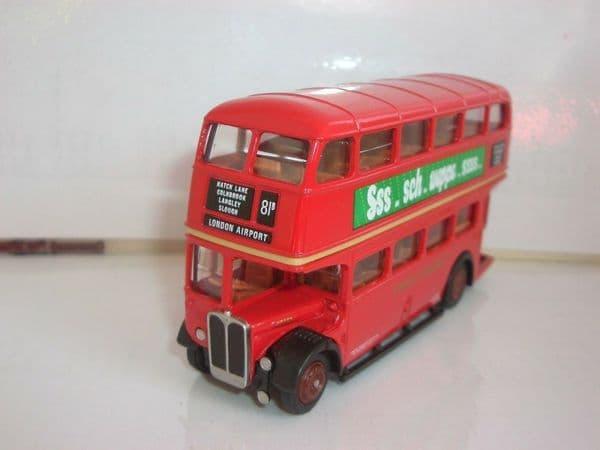 EFE 10104 1/76 AEC RT Bus Schweppes London Transport Route 81B Heathrow Airport UB